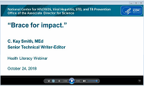 Brace for Impact. Health Literacy Training Webinar