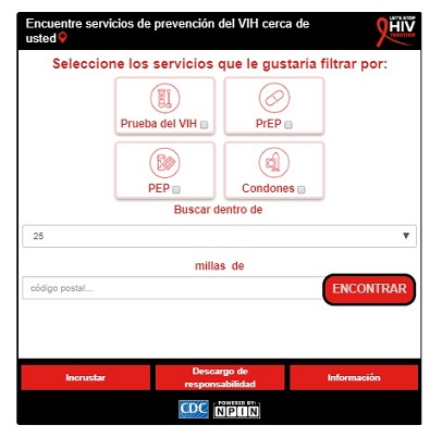 Combined Widget - Let's Stop HIV Together - Spanish