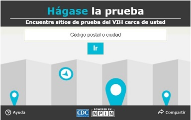 GetTested HIV Widget Spanish