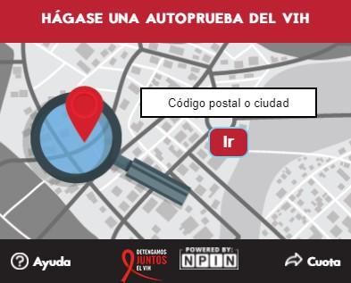 GetTested Self-Testing Let's stop HIV together (Spanish) widget