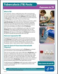 Thumbnail image of Tuberculosis Facts - Exposure to TB
