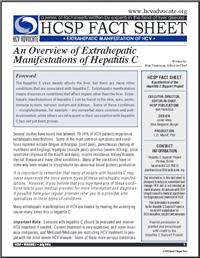 Thumbnail image of HCSP Fact Sheet: An Overview of Extrahepatic Manifestations of Hepatitis C
