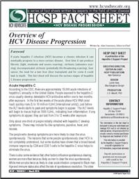 Thumbnail image of HCSP Fact Sheet: Overview of HCV Disease Progression