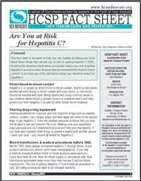 Thumbnail image of HCSP Fact Sheet: Are You at Risk for Hepatitis C?