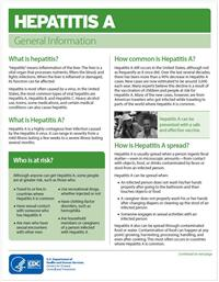 Thumbnail image of Hepatitis A: General Information