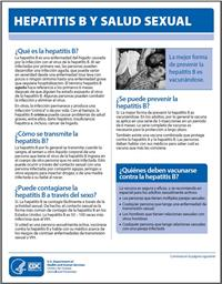 Thumbnail image of Hepatitis B y Salud Sexual