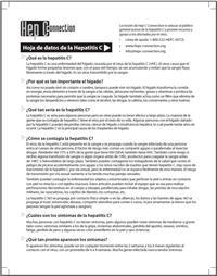 Thumbnail image of Hoja de Datos de la Hepatitis C