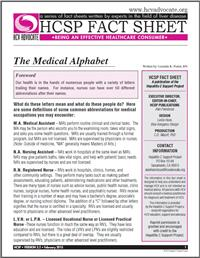 Thumbnail image of HCSP Fact Sheet: The Medical Alphabet