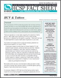 Thumbnail image of HCSP Fact Sheet: HCV & Tattoos