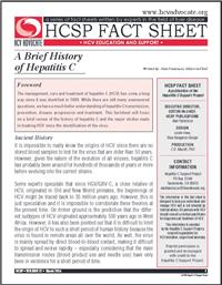 Thumbnail image of HCSP Fact Sheet: A Brief History of Hepatitis C