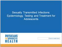Thumbnail image of Sexually Transmitted Infections: Epidemiology, Testing, and Treatment for Adolescents