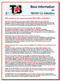 Basic Information on TB/HIV Co-Infection