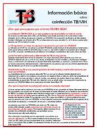 Información Básica Sobre Coinfección TB/VIH[Basic Information on TB/HIV Co-Infection]