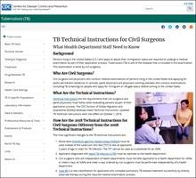 TB Technical Instructions for Civil Surgeons: What Health Department Staff Need to Know