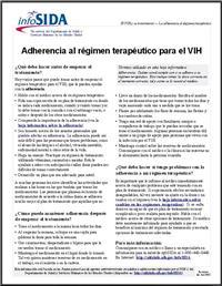 Thumbnail image of Adherencia al Regimen Terapeutico Para el VIH