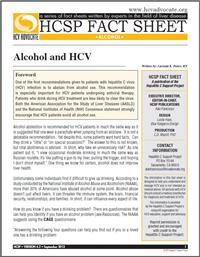 Thumbnail image of HCSP Fact Sheet: Alcohol and HCV