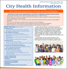 City Health Information (CHI): Testing For and Treating Latent Tuberculosis Infection