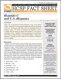 Thumbnail image of HCSP Fact Sheet: Hepatitis C and U.S. Hispanics