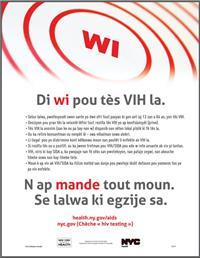 Thumbnail image of Di Wi Pou Tes VIH la. N AP Mande tout Moun. Se Lalwa Ki Egzije Sa.