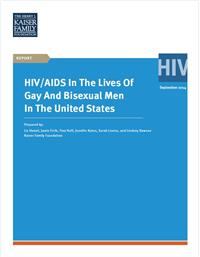 Thumbnail image of HIV/AIDS in the Lives of Gay and Bisexual Men in the United States
