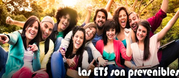Enfermedades de transmisión sexual (ETS). Ir al sitio web.