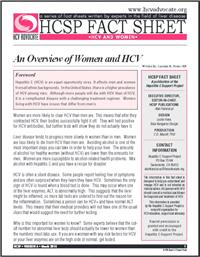 Thumbnail image of HCSP Fact Sheet: An Overview of Women and HCV