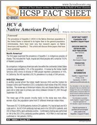 Thumbnail image of HCSP Fact Sheet: HCV & Native American Peoples