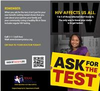 Thumbnail image of Ask for the Test: HIV Affects Us All