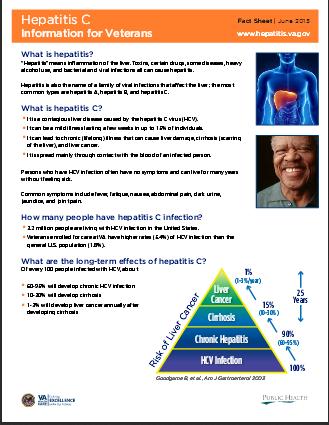 Hepatitis C: Information for Veterans. Go to information sheet.