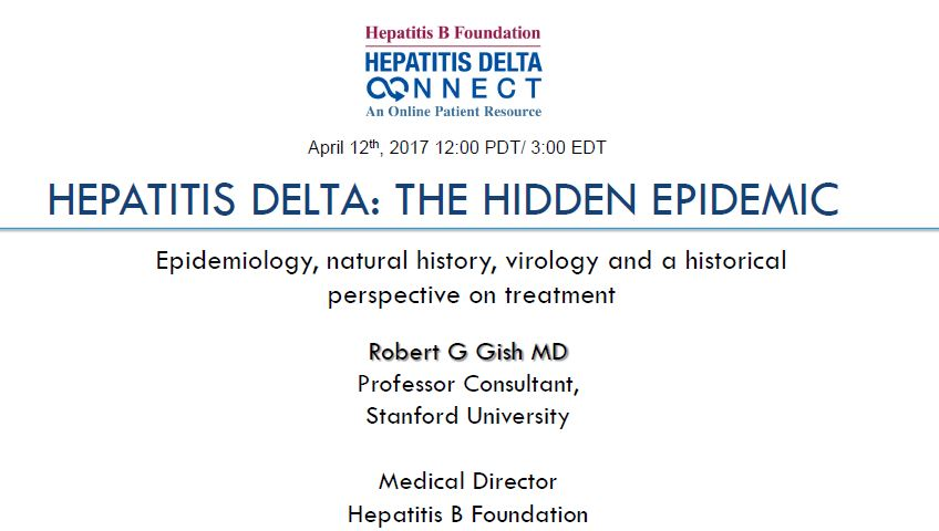 HBU Webinar: Hepatitis Delta: The Hidden Epidemic. YouTube video presentation.