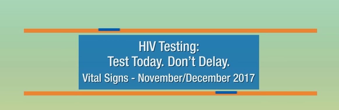 Public service announcement promoting HIV Testing and prevention. Go to video.