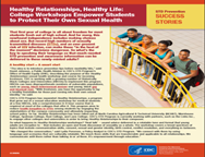 Healthy Relationships, Healthy Life: College Workshops Empower Students to Protect Their Own Sexual Health. Go to report