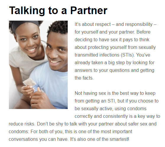 talking to partner about sex