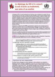 Thumbnail image of Le Depistage du VIH et le Conseil: La Voie d'Acces au Traitement, aux Soins et au Soutien