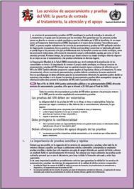Thumbnail image of Los Servicios de asesoramieinto y Pruebas del VIH: La Puerta de Entrada al Tratamiento, la Atencion y el Apoyo