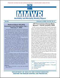 Thumbnail image of MMWR: HIV Transmission Among Black Women: North Carolina, 2004