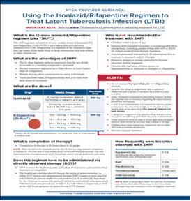 NTCA Provider Guidance: Using the Isoniazid/Rifapentine Regimen to Treat Latent Tuberculosis Infection (LTBI)