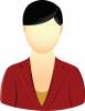 Female maroon blazer