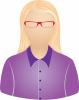Female lavender blouse