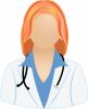 Female white lab coat