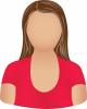 Female red scoop neck