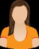 Female orange scoop neck