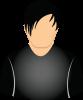 Male black shirt short dark hair