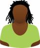 Female green scoop neck