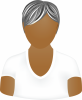 Female white short sleeve shirt