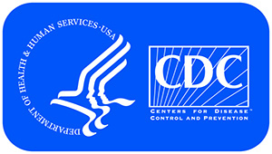 Logos for the US Department of Health and Human Services and the Centers for Disease Control and Prevention