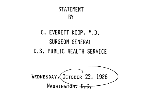 cover of Dr. Koop's Report on AIDS