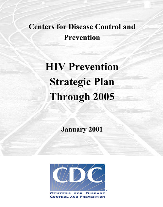 cover of HIV Prevention Strategic Plan through 2005