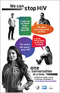 We Can Stop HIV One Conversation at a Time Poster